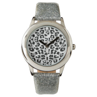 Snow Leopard Print Watch