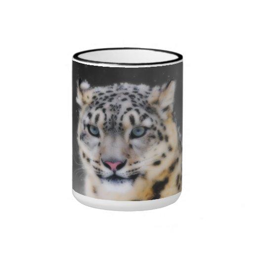 Snow Leopard Ringer Mug