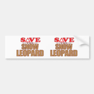 Snow Leopard Save Bumper Sticker