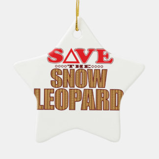Snow Leopard Save Christmas Ornament