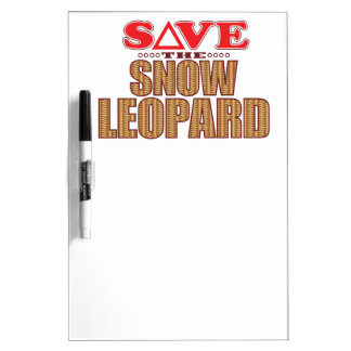 Snow Leopard Save Dry Erase Board