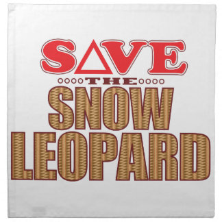 Snow Leopard Save Napkin