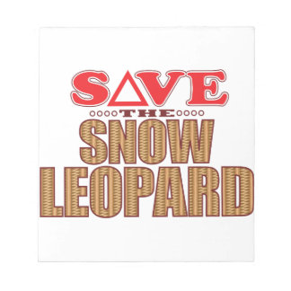 Snow Leopard Save Notepad