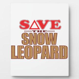 Snow Leopard Save Plaque