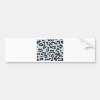 Snow Leopard Skin Pattern Bumper Sticker