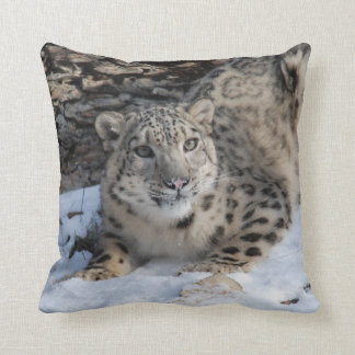 Snow Leopard Square Toss Cushion