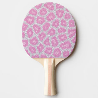 Snow Leopard style - Silver Pink Ping Pong Paddle