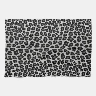 Snow leopard tea towel