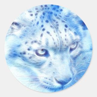 *Snow Leopard* Wild Spirit Classic Round Sticker