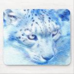 *Snow Leopard* Wild Spirit Mouse Pad