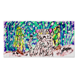 Snow leopard winter artS Poster