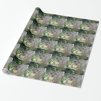 Snow leopard wrapping paper