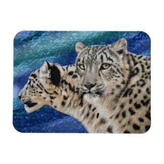 Snow Leopards Premium Magnet