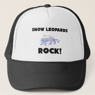 Snow Leopards Rock Trucker Hat