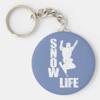 SNOW LIFE #3 (wht) Key Ring