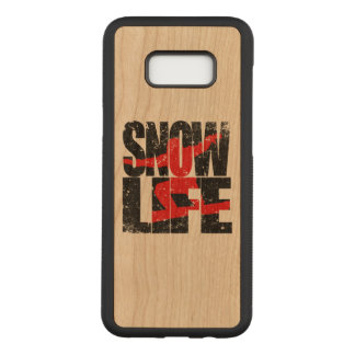 SNOW LIFE red boarder (blk) Carved Samsung Galaxy S8+ Case