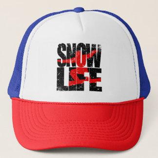 SNOW LIFE red boarder (blk) Trucker Hat