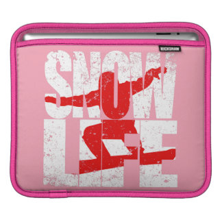 SNOW LIFE red boarder (wht) iPad Sleeve