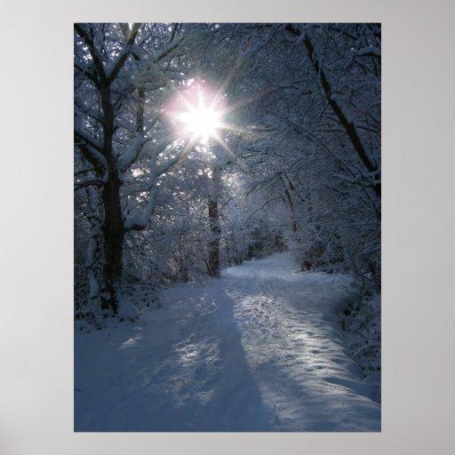 Snow & Light Poster