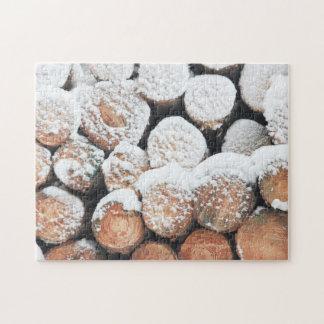 Snow Logs Jigsaw Puzzle