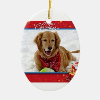 Snow Loving Golden Retriever Christmas Ornament
