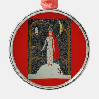 Snow Maiden (Red Version) Ornament - Premium Round