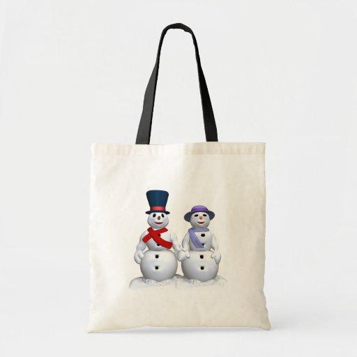 Snow Man And Snow Woman Bag