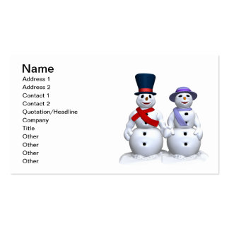 Snow Man And Snow Woman Pack Of Standard Business Cards