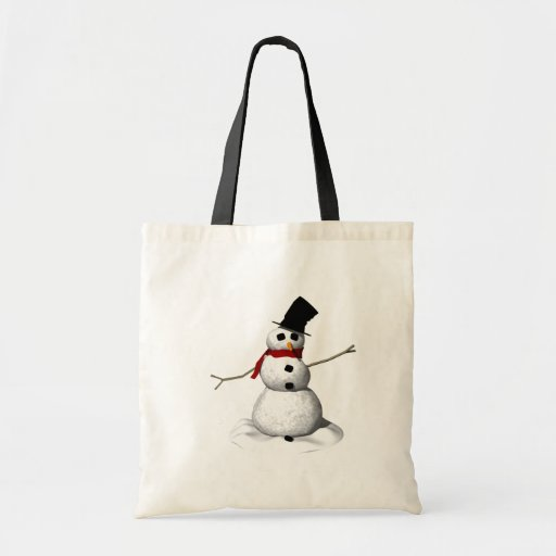 Snow Man Tote Bags