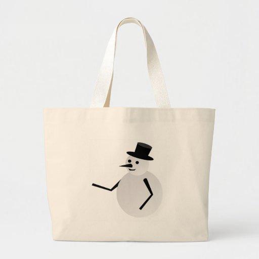 snow man canvas bags