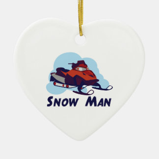 Snow Man Christmas Ornament