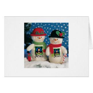 snow man greeting card