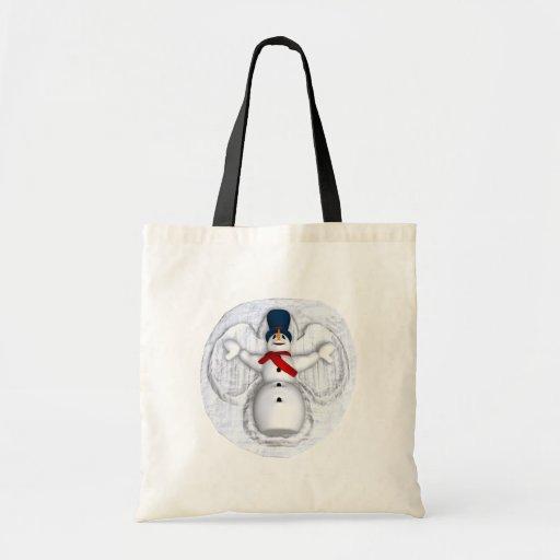 Snow Man Snow Angel Bags