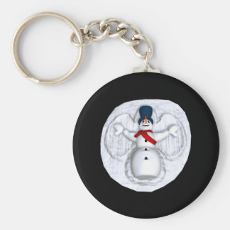 Snow Man Snow Angel Key Ring