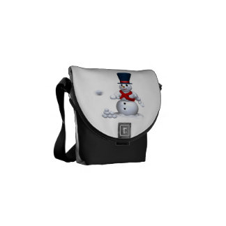 Snow Man Snow Fight Courier Bags