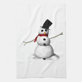 Snow Man Tea Towel