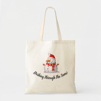 Snow Man Themed Tote Bag
