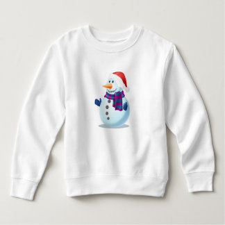 Snow man Toddler Fleece Sweatshirt