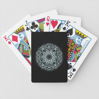 Snow Mandala Flower Playing Cards