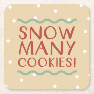 Snow Many Cookies Coasters