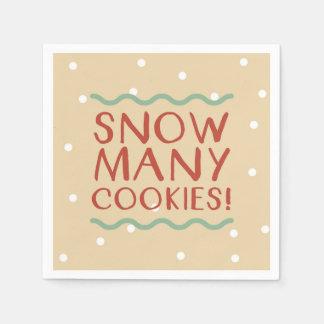 Snow Many Cookies Napkins Disposable Serviettes