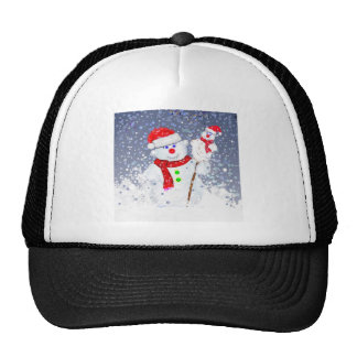 Snow men. hat