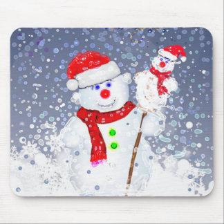 Snow men. mouse pad