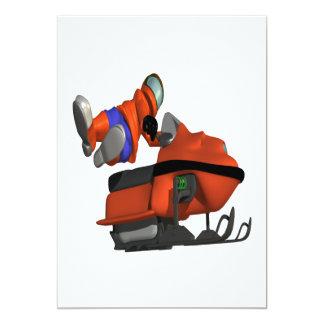 Snow Mobile Skills 13 Cm X 18 Cm Invitation Card