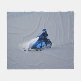 Snow-mobiler Winter Sports Gift Fleece Blanket