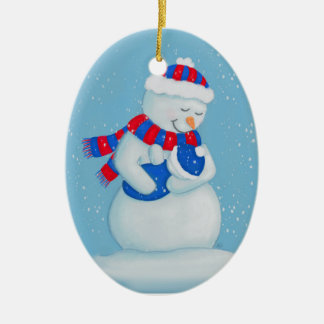 Snow Mom and Snow Baby Cubs Christmas Ornament