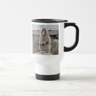 Snow Monkey Wildlife Photo Mugs