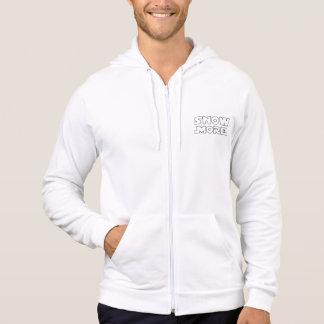 Snow more whire zip hoodie