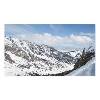 Snow Mountain Ranges Business Card Templates