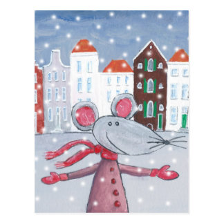 Snow Mouse Postcard